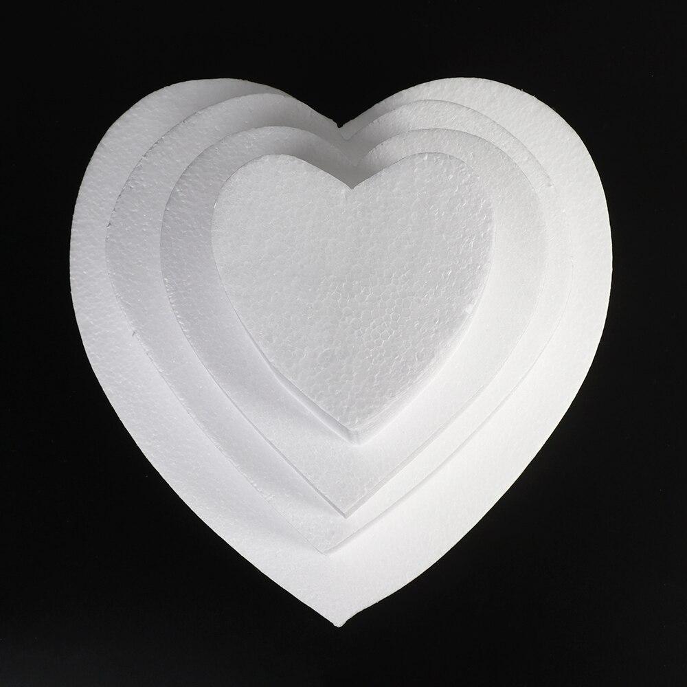 4/6/8 дюйма в форме сердца манекен форма для торта пенопласт модель ремесла своими руками Свадебные украшения