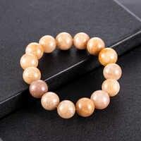 2019 New Khaki Natural Stone 13mm Beads Bracelets for women Transparent Bead Yoga Elastic Strand Bracelets Jewelry Gift Bangles