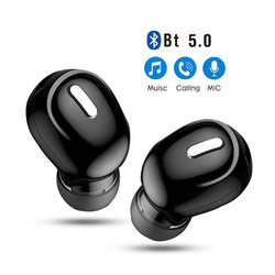Mini In-Ear 5.0 Invisible Wireless Bluetooth Headset Single-Ear Wireless Earphone Bluetooth Headphone Handsfree Stereo Headset