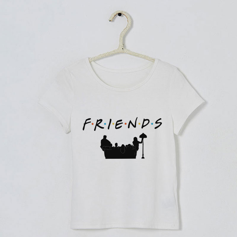 Korean Design Summer Funny Girls <font><b>Shirts</b></font> <font><b>Best</b></font> <font><b>Friend</b></font> Kawaii Pattern T <font><b>Shirt</b></font> <font><b>Kids</b></font> Cute Vogue Boys T <font><b>Shirts</b></font> Round Neck Leisure Cozy image