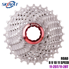 ZTTO 9 Speed Cassette 11-24T 11-28T Bicycle Freewheel Road Bike Cassette Sprockets For Shimano Sora 3300 3500 R300 Bicycle Parts запчасть shimano sora r3030 efcr3030ex090x