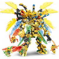 Kids Toys Ninjago 2020 Ninja Dragon Blocks 4in1 Gold Saints Model Building Blocks Kit Classic Bricks Education Toys for Children 1