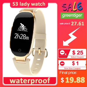 Image 1 - S3 Plus Smart Watch Color Screen Waterproof Women smart band Heart Rate Monitor Smartwatch relogio inteligente For Android IOS