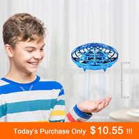 Anti-collision vol hélicoptère magique main UFO balle avion détection Mini Induction Drone enfants électrique électronique jouet