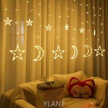 Décorations Ramadan Lumières L'UE 220V Étoile de Lune Lampe JEU DE LUMIÈRE CLIGNOTANT LED Guirlande Décor Pour La Maison De Vacances lumière Salle De Mariage Bricolage
