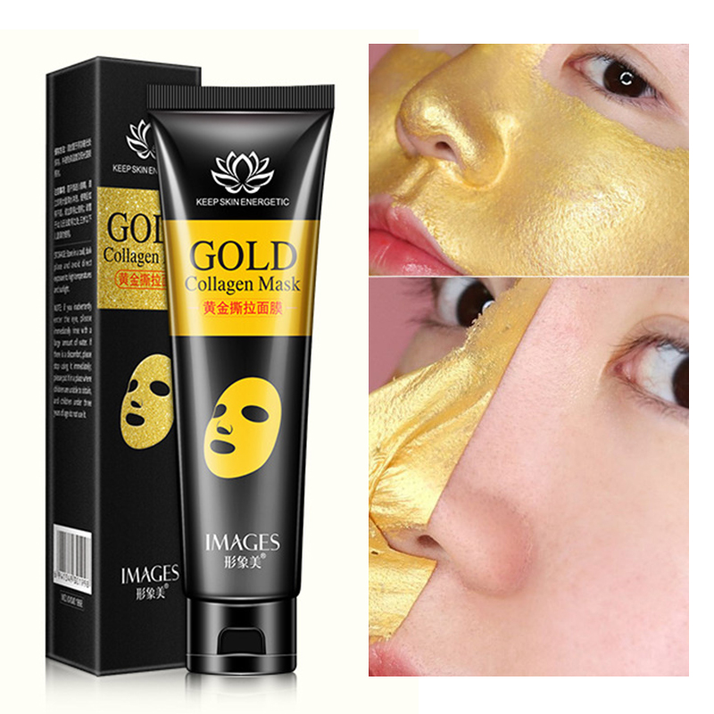 24K Gold Face Mask Anti Aging Skin Care Shrink pores Anti Wrinkle Facial Treatment Blackhead Remover Acne Scar Treatment 60g image