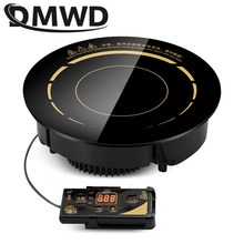 DMWD 3000 Вт круглая электрическая Магнитная индукционная плита, встроенная Проводная управляющая горелка, беспроводная сенсорная горячая пли...
