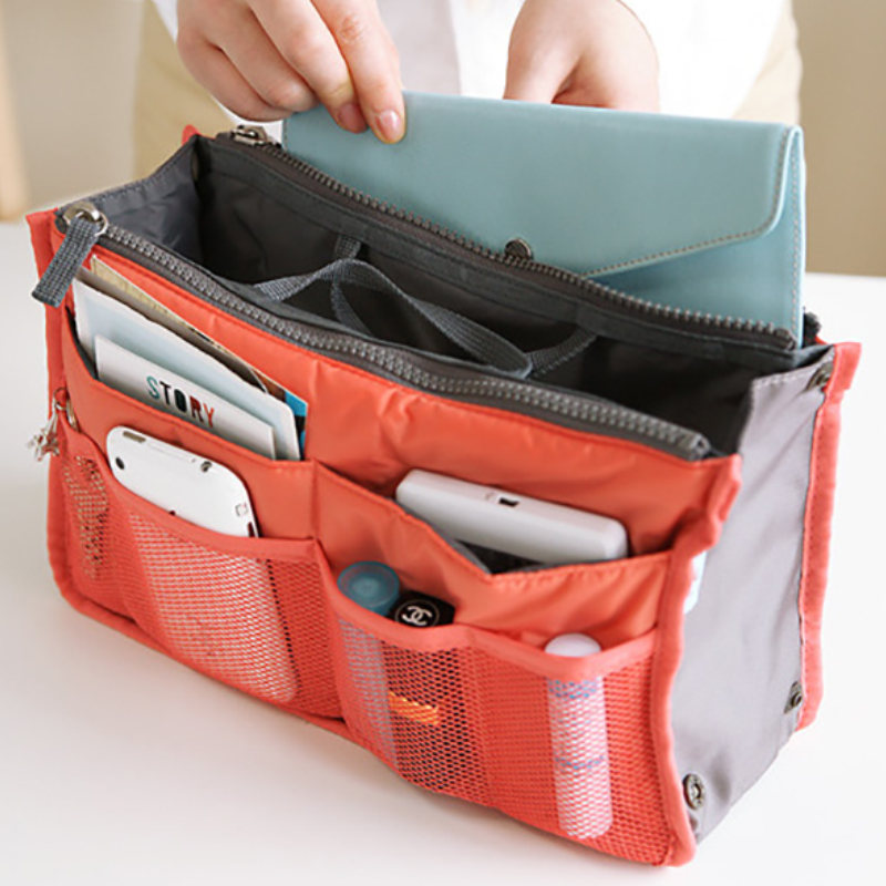Thicken Large Capacity Cosmetic Bag Nylon Travel Insert Wardrobe Closet Organizer Handbag Purse Makeup Bag For Women Storage Bag 1