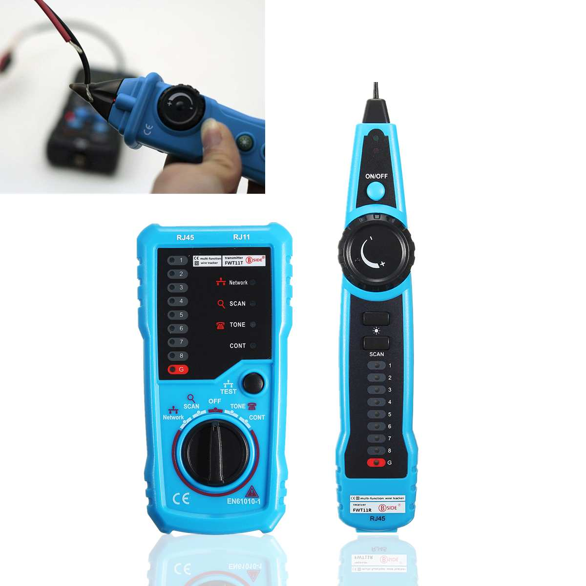 Continuity Checking Polarity Testing Wire Tracker RJ11 RJ45 Cable Tester Line Finder NOYAFA Handheld Cable Finder Tone Generator for Ethernet LAN Network Cable Collation Telephone Line Test