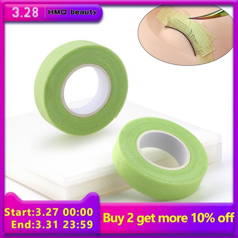 9m Non-woven Grafted Eyelash Tape With Holes Breathable Comfortable Sensitive Resistant Green Eye Pad Eyelash Extension Tools