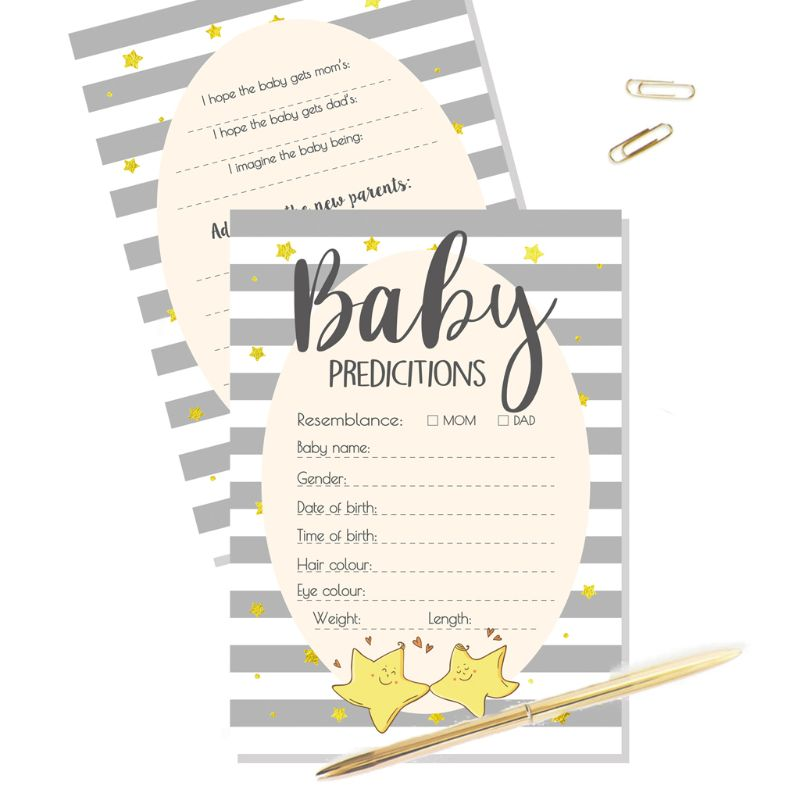 Advice And Prediction Cards For Baby Shower Game New Parent Message Advice Book