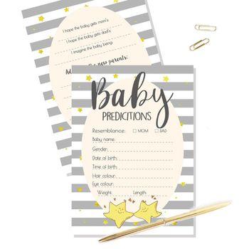 Bezpłatna wysyłka porady i karty przewidywania dla Baby Shower gra nowa książka porady dla rodziców tanie i dobre opinie Durable Cardstock 10 Pcs 5 x 7in 12 7 x 17 78cm 0-3 M 4-6 M 7-9 M 10-12 M 13-18 M 19-24 M 2-3Y 4-6Y