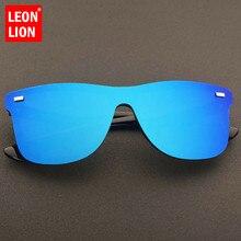 LeonLion Vintage Sunglasses Men 2019 Rimless Square