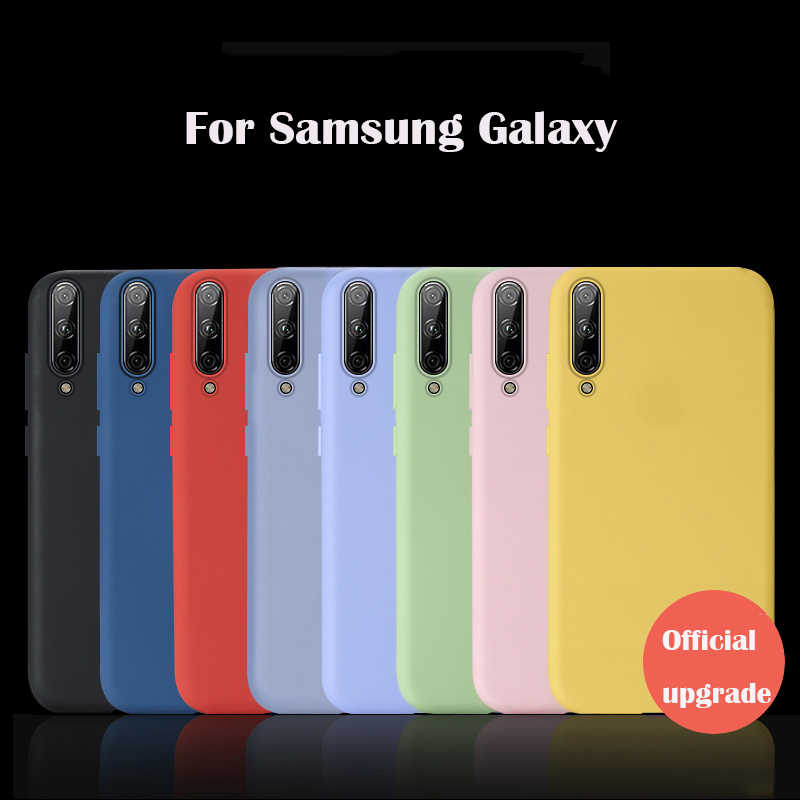 Solid Color Silicone Case For Samsung Galaxy A20 A30 A40 A50 A60 A70 A80 A90 M30 case for Note8 Note9 S8 S9 S10 Plus S10e case