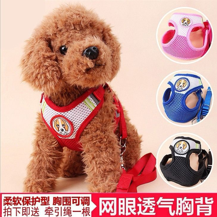 Pet Cat Dog Chest Strap Protection Type Mesh Breathable Chest And Back Puppy Dogs Suspender Strap Hand Holding Rope Molinari VIP
