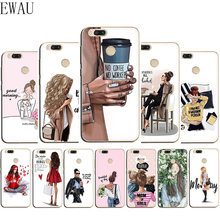 Get more info on the EWAU Queen Princess Girl Female boss coffee Silicone Mattle phone case for Xiaomi 6 8 9 SE A1 A2 Mix 2S Max 3 F1 A3 9T Pro CC9e