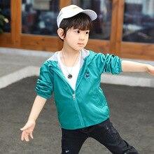 Детская куртка весенне-осенняя куртка с капюшоном для мальчиков корейский стиль, новинка года, стильное тонкое модное пальто с рисунком динозавра