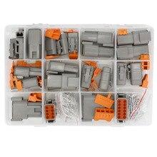 DTM Waterproof Wire Connector Kit DTM06-2/3/4/6/8/12S DTM04-2/3/4/6/8/12P Automotive Sealed Plug with Terminals велосипедные тормоза magura 2 4 6 8 sh857s