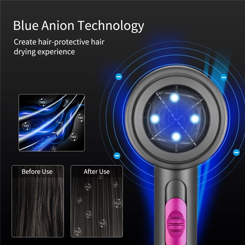 Secador de cabelo profissional 220v com íon