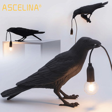 Bird-Lamp Mirror-Lights Fixture Deco Crow Led Living-Room Seletti Lucky for Bedroom