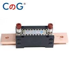 Mesure de précision de haute précision, 1A 10A 50A 100 300A 0.05 0.1% niveau de classe 20mv, cuivre rouge, résistance DC shnt spécifique au laboratoire