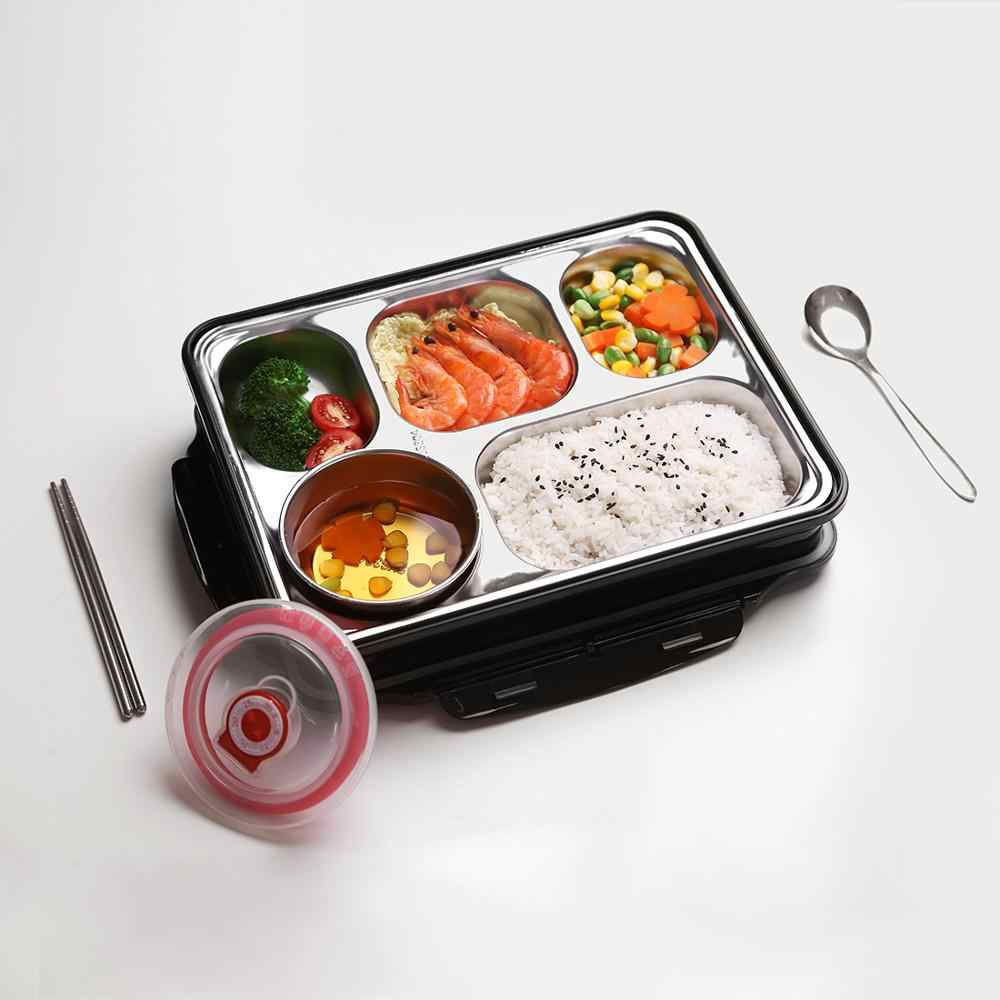oneisal Lunch Box Stainless Steel Portable Picnic Office School Food Container With Compartments Thermal Bento Box