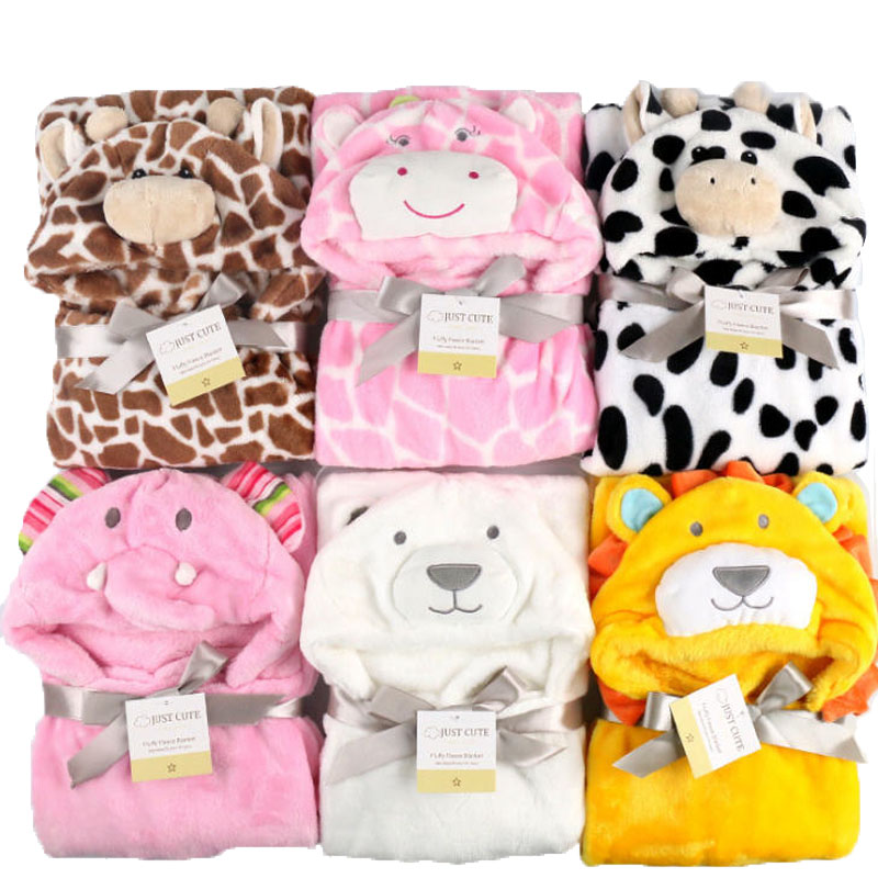 Blanket Bathrobe Receiving Hooded Baby-Towel Fleece Lovely Animal-Shape Cute Kid Cloak