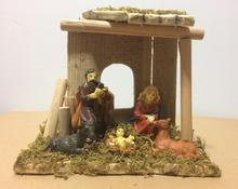 Our Lady of Holy Child Jesus handmade wooden home ornaments Christmas manger group gift