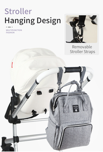 Image 5 - Insular Mumie Mutterschaft Baby Windel Kinderwagen Tasche Große Kapazität Windel Reise Rucksack Pflege Tasche Baby Pflege frauen Mode Tasche