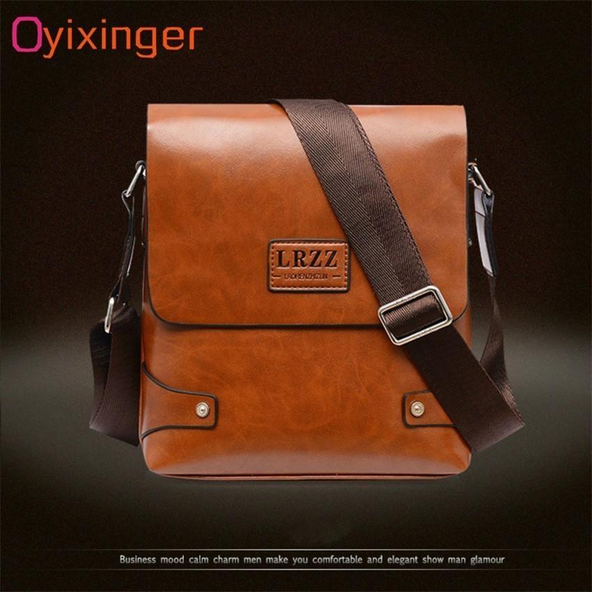 OYIXINGER Men Messenger Bags Satchel Bag Soft Leather Middle-aged Man Single Shoulder Practical Work Bag For IPad Tablet PC Bags