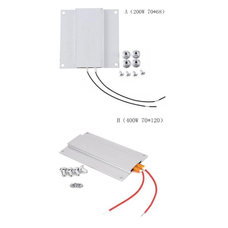 220V 300W PTC Calentador de cerámica de calefacción de aluminio termostato 270 ℃ 1 un