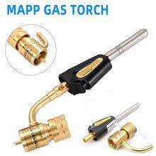MAPP-soplete de soldadura de Gas propano, herramienta de soldadura de soplete de fontanería con gatillo de Encendido automático, soplete de Metal Turbo