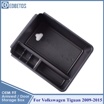 For Tiguan Armrest Storage Box For Volkswagen V W Tiguan 2009 - 2019 Tiguan Console Organizer Glove Box For Tiguan Accessories фото