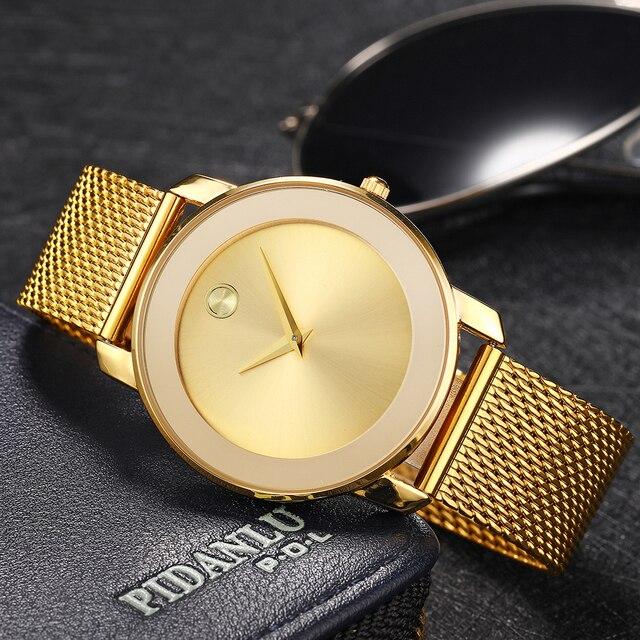 MISSFOX 40 мм женские часы минималистичные ультра тонкие стальные сетчатые часы модные повседневные водонепроницаемые 18 К Золотые женские кварцевые часы для девочек
