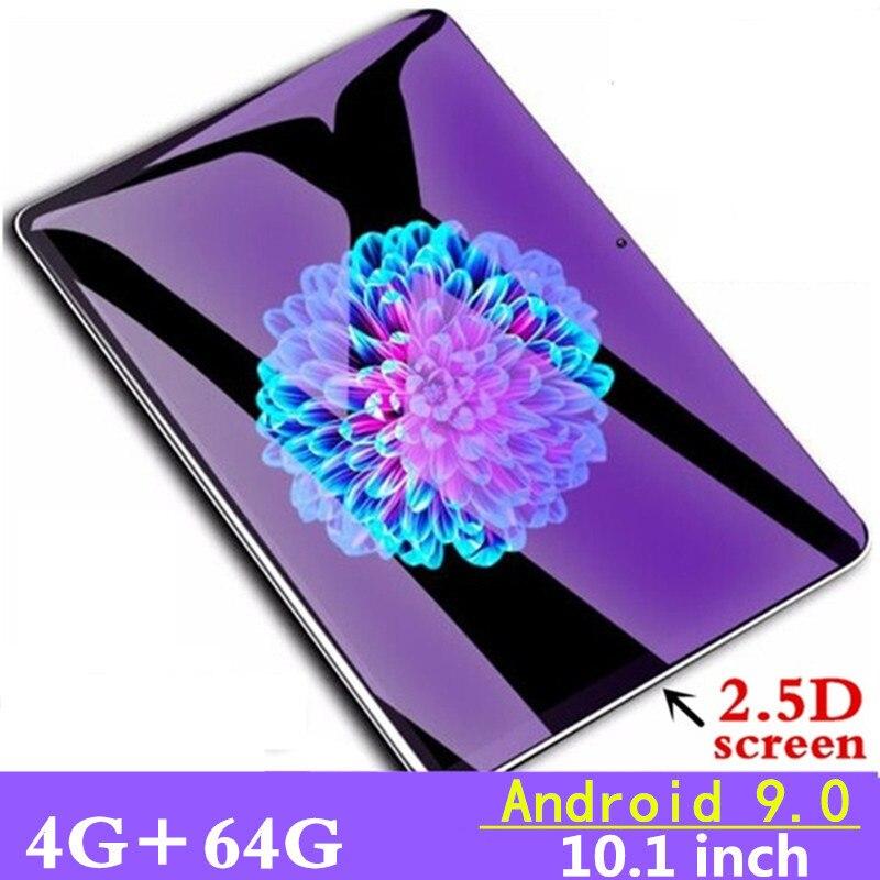 10.1 polegada 3g 4 glte chamada de telefone comprimidos octa núcleo tablet pc android 9.0 tablet 4g ram + 64g rom wifi gps duplo sim pc tablet fm gpg