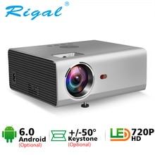Rigal RD825 мини-проектор 1280x720 P светодиодный WiFi 3D проектор Android 6,0 проектор Поддержка HD 1080P Портативный ТВ домашний кинотеатр