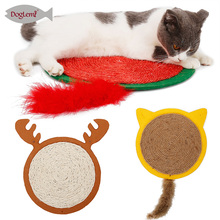 Sisal Pad Cat Scratch Board Protector Furniture Scratching Mat  Toy Carpet Halloween Pets Supplies Bat Toys