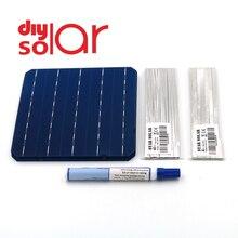 Mono Pannello Solare Fai da Te 400 350 300 250 200 150 100 W Watt Charger Kit Monocrystall Cella Solare Tabbing Wire sbarre Flux Pen 125 156