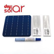Mono panneau solaire bricolage 400 350 300 250 200 150 100 W Watt chargeur Kit monocristall cellule solaire Tabbing fil jeu de barres Flux stylo 125 156