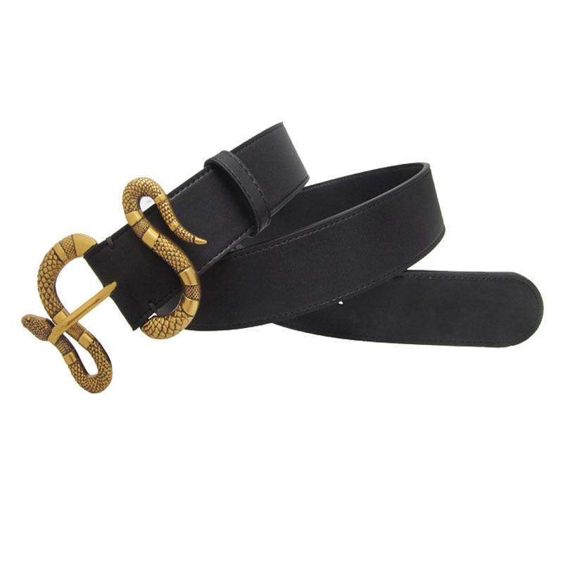 Western Snake Alloy Buckle Black Leather Men Belt Fashion Jeans Causal Pants Men Belt|Men's Belts| - AliExpress