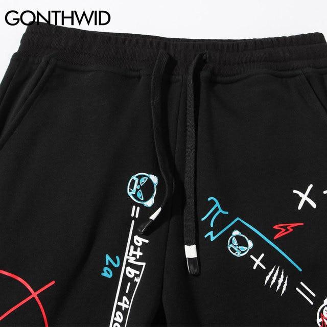 Sweatpants Graffiti Letters Print Joggers Harem Pants Hip Hop Harajuku Casual Streetwear Fashion Loose Baggy Trousers