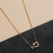 Chengxun inicial colar em árabe carta handcut banhado a ouro pingente de bronze único colar jóias 2020
