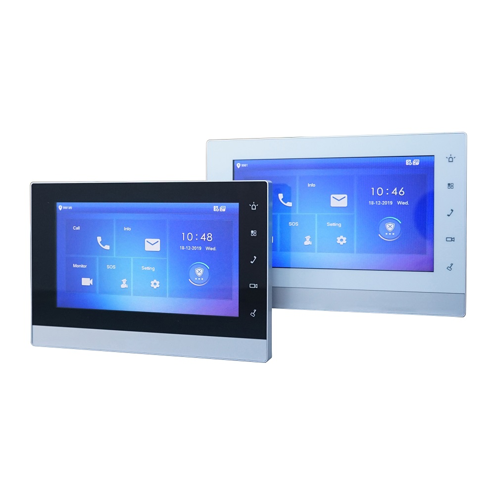 DH Multi-Language VTH1550CH 7 Inch Touch Indoor Monitor, IP Doorbell Monitor, Video Intercom Monitor,SIP Firmware Version