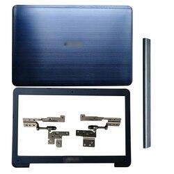 Nowy LCD tylna pokrywa/pokrywa przednia/zawiasy/zawiasy etui na asus 15.6 cal A555 A555L X555 Y583 F555 K555 W509 F554 X554 R556 VM510