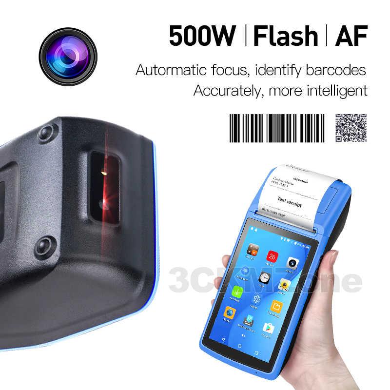 DIY Protable 6.0 Kasar PDA Genggam POS Printer 58 Mm Terminal Sunmi V2 PDA 4G WIFI Bluetooth dengan Kamera speaker Menerima PR
