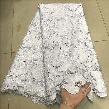 Hot selling african cord lace fabrics nigerian lace fabric 2019 high quality lace white French Lace Fabric For Wedding df13-99