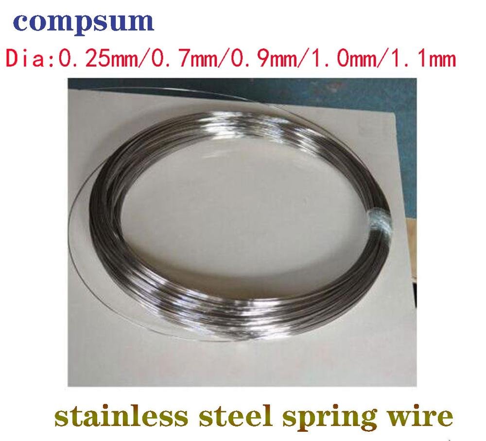 304 paslanmaz çelik yaylı tel 0.4/0.5/0.6/0.7/0.8/1/1.2/1.5/1.8/2mm bahar sert çelik tel