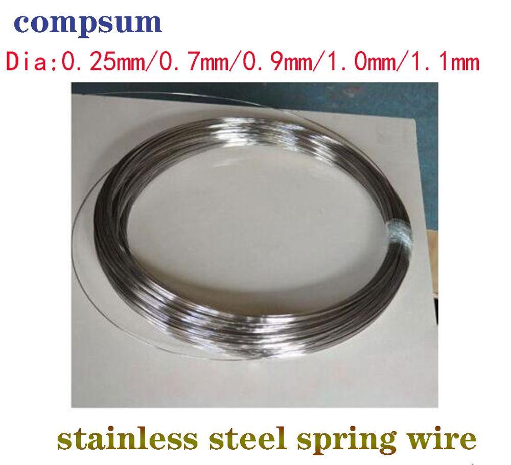 Fio de mola de aço inoxidável 304/0.4/0.5/0.6/0.7/0.8/1/1.2/1.5/1. fio de aço duro com mola de 8/2mm