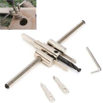 цена на Adjustable Metal Wood Circle Hole Saw Drill Bit Cutter Kit DIY Tool 30mm-120mm  30mm-200mm 30mm-300mm Circle Hole Cutter Set