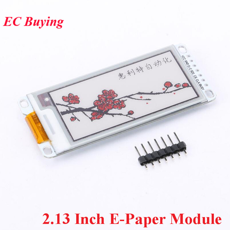 2.13 Inch E-Paper Module E-Ink Display Screen Module For Arduino E Paper E Ink EPaper Black Red White Color SPI Electronic DIY